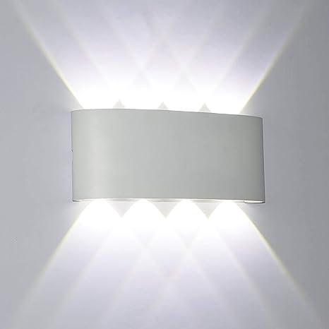 8W Led Lampade da Parete Parete Esterne interne in Alluminio ...