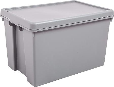 JMS® Contenedor Resistente de Almacenamiento Gris Fabricado en el Reino Unido – 45 litros: Amazon.es: Hogar