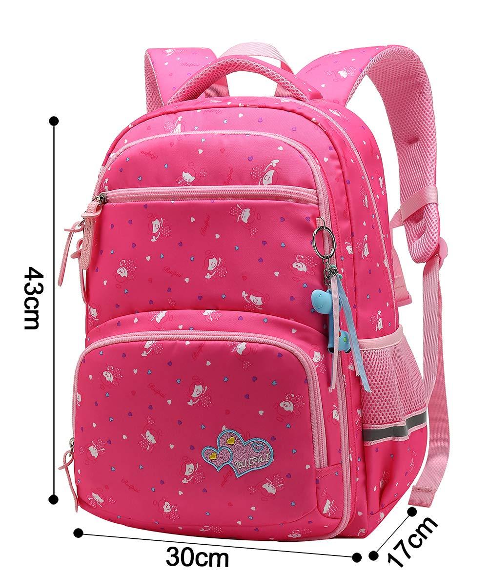 USXB106B-1 27 Liters, Black Girl Multipurpose Dot Primary Junior High University School Bag Bookbag Backpack