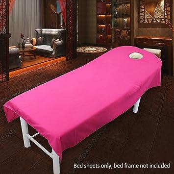 Sabana bajera para camilla de masaje, de UXELY, para tratamientos de belleza y masajes, salón, spa, con agujero, Rose 120cmx190cm: Amazon.es: Deportes y ...