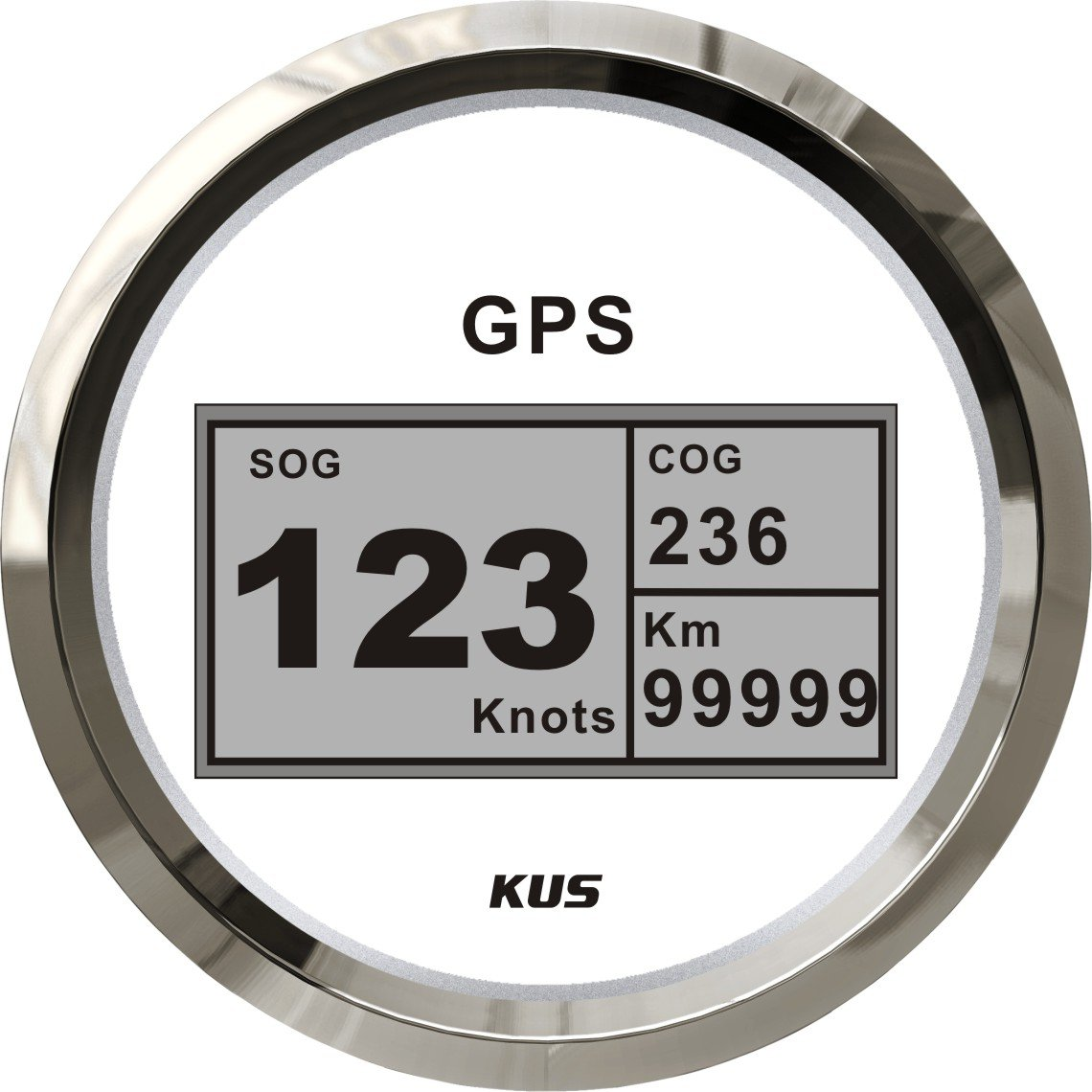 Kus digitale GPS tachimetro calibro 0 –  999 km/h per auto camion moto 3 –  3/20, 3 cm 12 V/24 V 3cm 12V/24V SPR
