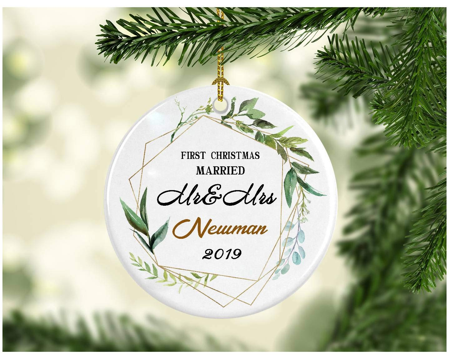 Newman Christmas Trees.Amazon Com First Christmas Together 2019 Ornament Mr Mrs