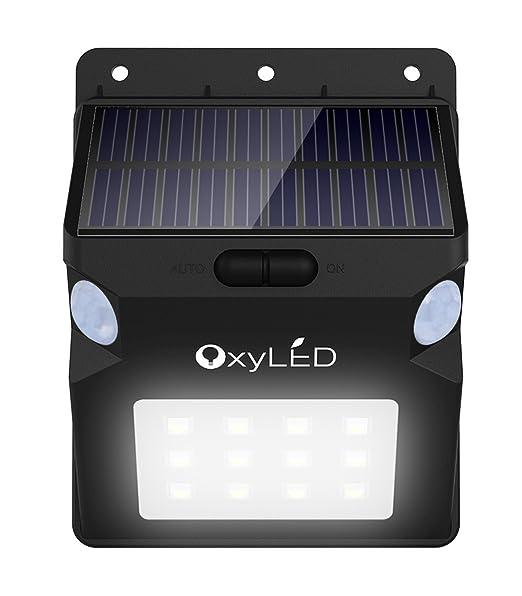 180 opinioni per Luci Solari OxyLED Luce Solare da Muro Dual Motion Identificazione di Movimento