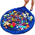 """Lego Storage/Deluxe 60"""" toy organizer and floor activity mat/PlayBag by OzzyKids-Makes toy storage and cleanup a breeze-Turns into a shoulder bag-BONUS GIFT"""