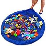 "Toy Storage/Deluxe 60"" Toy Organizer and Floor Activity mat/PlayBag by OzzyKids-Makes Toy Storage and cleanup a Breeze-Turns into a Shoulder Bag-Bonus Gift"