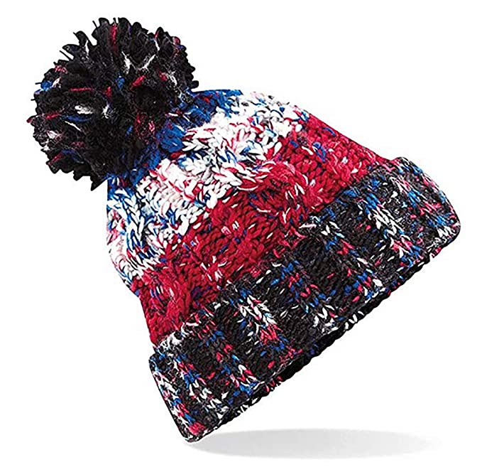 ee241aad3c5 4sold Mens Womens Beanie Warm Winter Corkscrew Cable Knitted Bobble Hat  Plain Ski Pom Wooly Cap (One Size