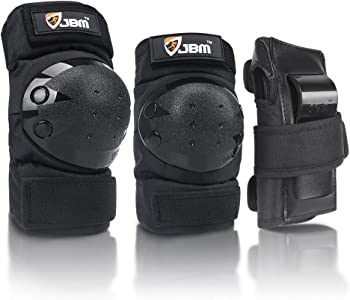 JBM International 3-In-1 Skateboard Knee Pads
