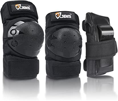Roller Skating Rollerblading S//M//L Cycling STARPOW Knee Pads for Kids//Adult Elbows Pads Wrist Guards 3 in 1 Protective Gear Set for Skateboarding Snowboarding