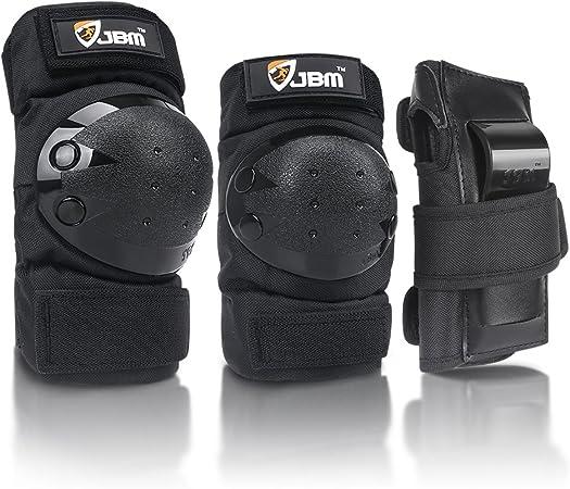 New Knee Elbow Wrist Guard Pads Protectors Set For Skating Skateboard