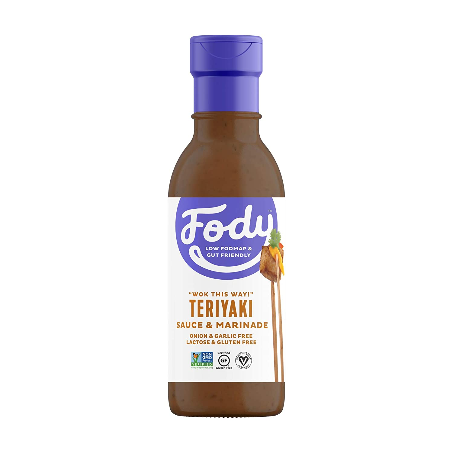 Fody Foods Vegan Teriyaki Sauce Marinade Pack | Sesame Tamari | Low FODMAP Certified | Gut Friendly No Onion No Garlic No MSG | IBS Friendly | Gluten Free Lactose Free | 4 Bottles, 8 Ounce
