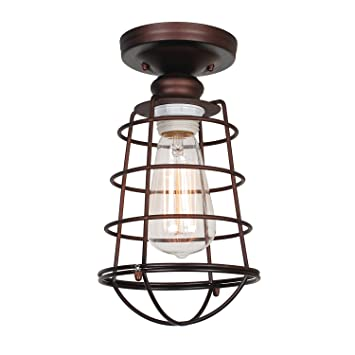 Design House 519694 Ajax 1 Light Ceiling Bronze
