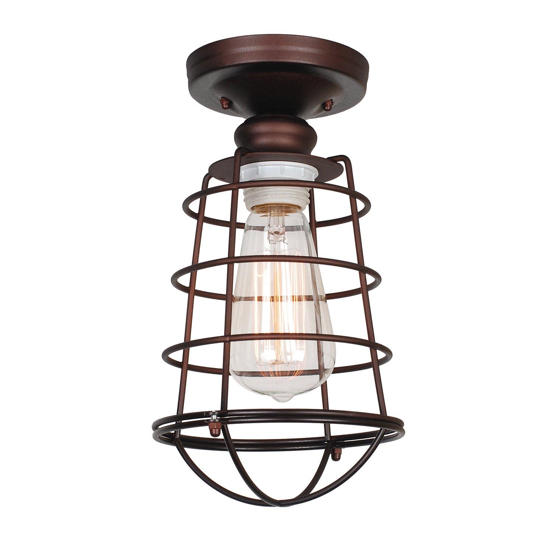 Design House 519694 Ajax 1 Light Ceiling Light, Bronze