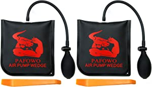 IMPROVED 2 Piece Durable Air Wedge Bag Pump Professional Leveling Kit & Alignment Tool Inflatable Shim Bag for a Variety of Jobs. 300 LB Rating