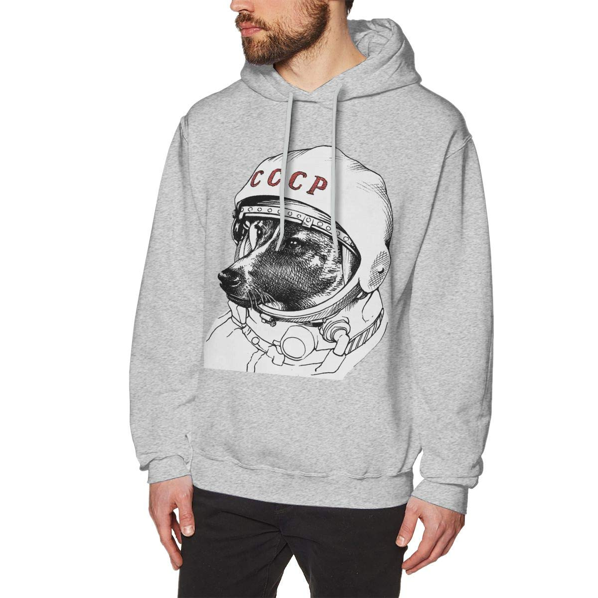 Laika Space Traveler Mens Hoodie Fashion Pullover Sweatshirt
