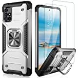 IKAZZ Samsung A51 4G Case,Galaxy A51 4G Cover Dual Layer Soft Flexible TPU and Hard PC Anti-Slip Full-Body Rugged Protective