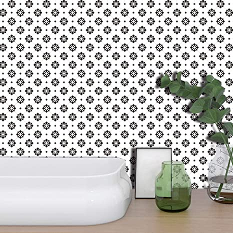 3D Tile Wall Sticker Self-Adhesive Decal Home Kitchen Bathroom Decor Wall Paper