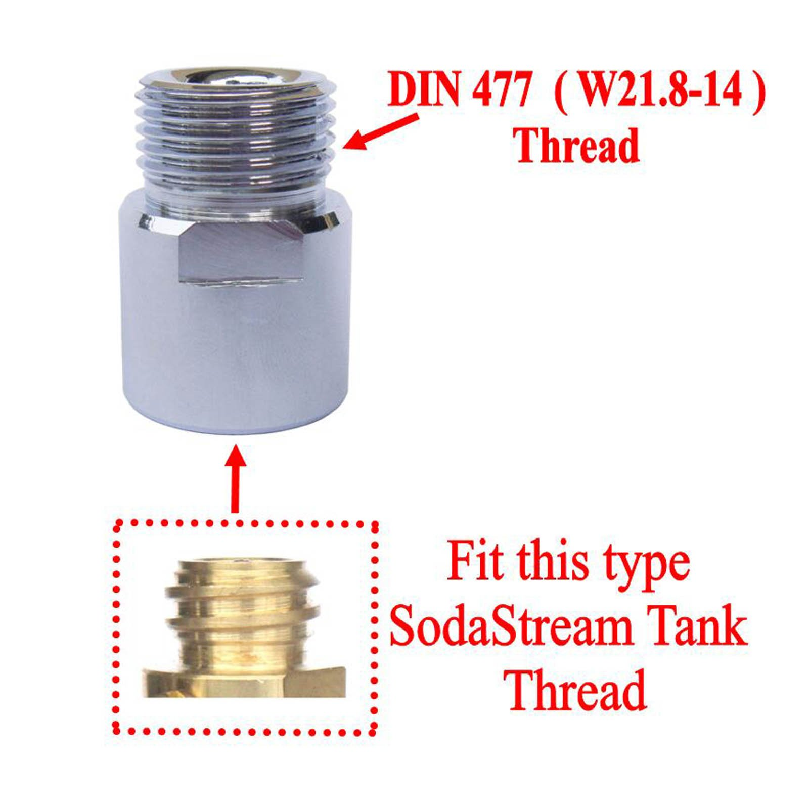 CO2 Cylinders Tank Soda Thread to W21.8-14 Converts Adapters