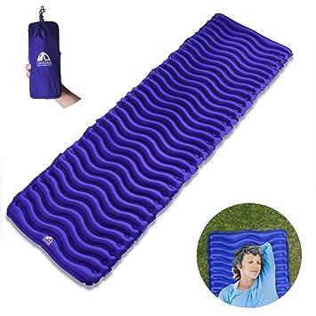 Unigear Esterilla Inflable Portatíl Colchón de Aire para Camping Acampa Colchones Hinchable Utraligero y Resistente Cama