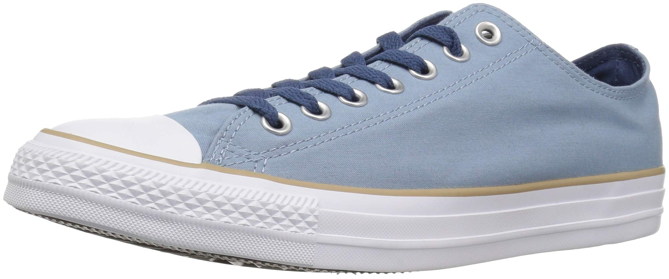Converse Chuck Taylor All Star Color Blocked Low Top Sneaker, Washed Denim/Khaki/White, 10 M US