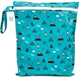 Bumkins Waterproof Wet Bag, Washable, Reusable for Travel, Beach, Pool, Stroller, Diapers, Dirty Gym Clothes, Wet…
