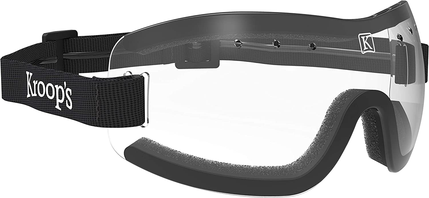 Kroop's 13-Five Goggles - Eyewear Protection for Wind, Dust, Snow, and Rain. Great for Skydiving, Cycling, Ski, Snowboard, and Other Sports. Made in The USA Since 1947.