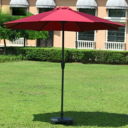 Pkfinrd Sombrillas Mercado Patio al Aire Libre Paraguas Jardín Tabla cesped Toldo UV Planchas de protección (Color: Rojo de Vino) (Color : WinRed): Amazon.es: Hogar