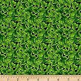 Lennie Honcoop Prairie Gate Leaves Green Fabric By The Yard