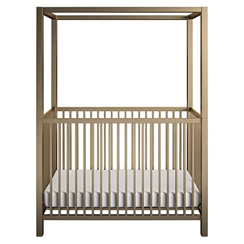 Little Seeds Monarch Hill Haven Metal Canopy Crib