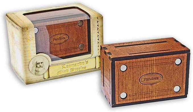 LOGICA GIOCHI Art. Pandora Secret Box - El Cofre Secreto - Jurgen Reiche Edition - Rompecabezas de Madera - Caja Secreta - Dificultad 5/6 Increíble - Colección Leonardo da Vinci: Amazon.es: Juguetes y juegos