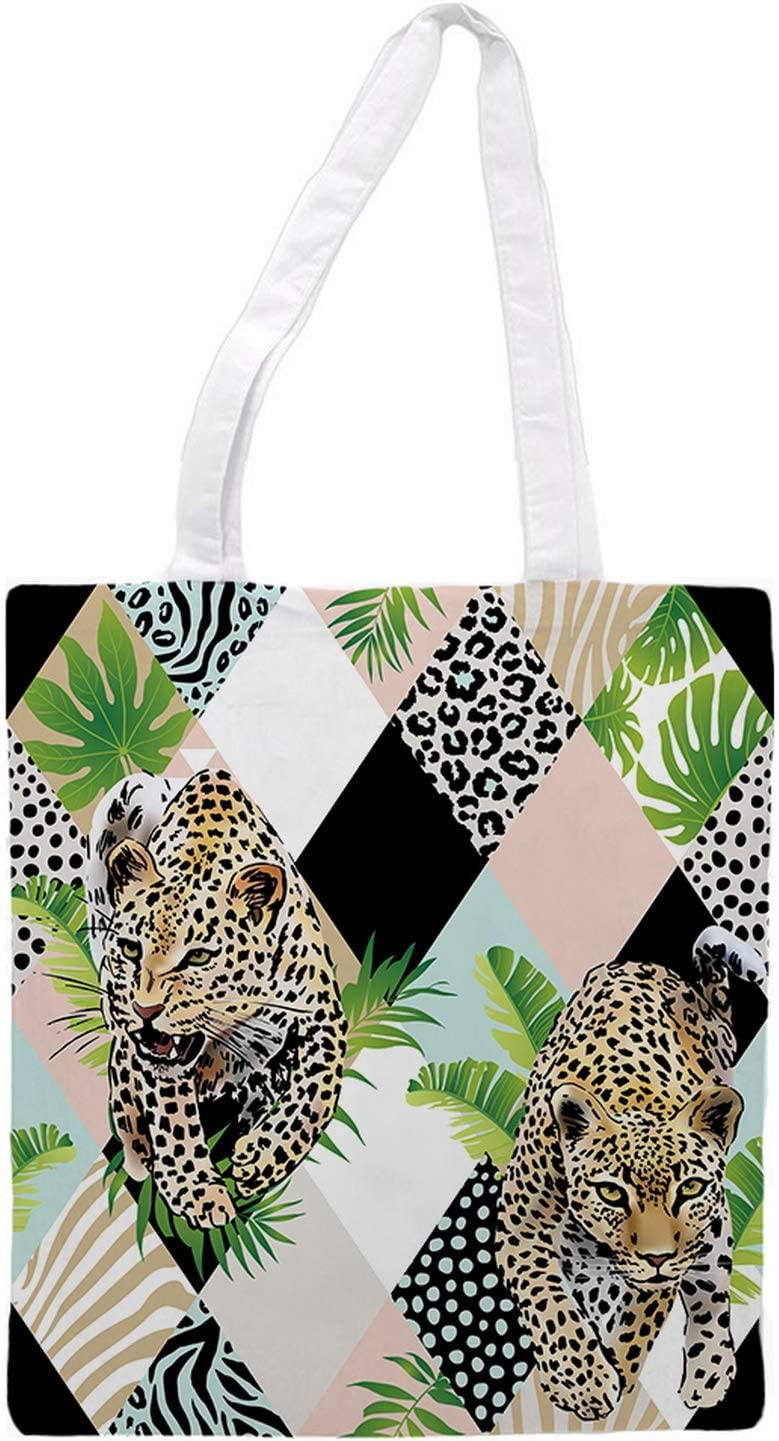 Women's tote bag/Animal tiger edition - Sports Gym Lunch Yoga Shopping Travel Bag Washable - 1.47X0.98 Ft