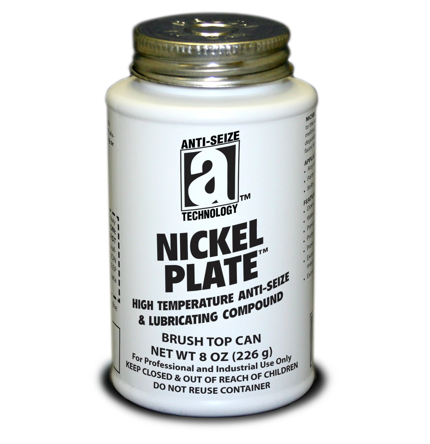 Anti-Seize Technology 35010 Nickel Plate Anti-Seize Compound with Graphite Paste in A Non Melting Carrier, 8 oz, Silver/Gray