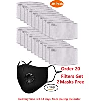 PUSOJIA 20pcs PM2.5 Activated Carbon Filter Replaceable Anti Haze Filter Paper