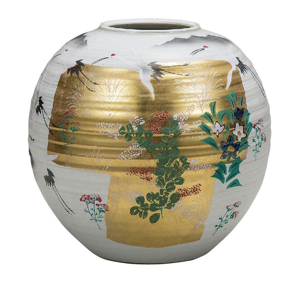 九谷焼 陶器 花瓶 金箔秋草 AK5-1323 B071JYTVFC