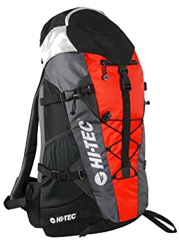 HI TEC sac à dos 35 litre noirrouge: : Sports et