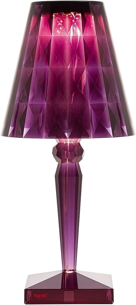 Kartell Big Battery Lampada Da Tavolo Alimentazione Diretta Rosso Prugna Amazon It Illuminazione