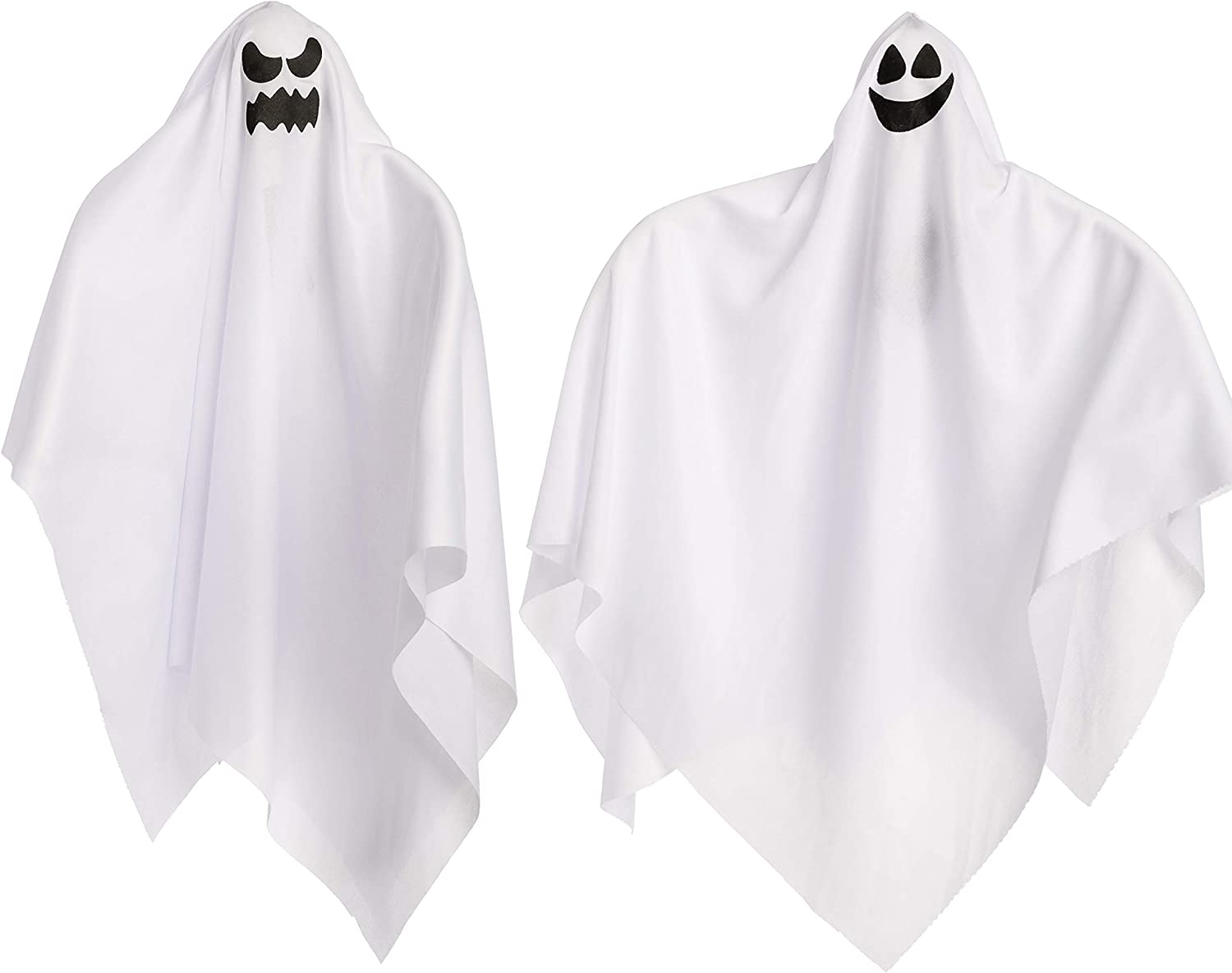 """Light-Up Halloween Hanging Ghost (2 Pack), 27.5"""" Cute Flying Ghosts for Front Yard Patio Lawn Garden Party Décor, Halloween Party Decoration and Holiday Decorations"""