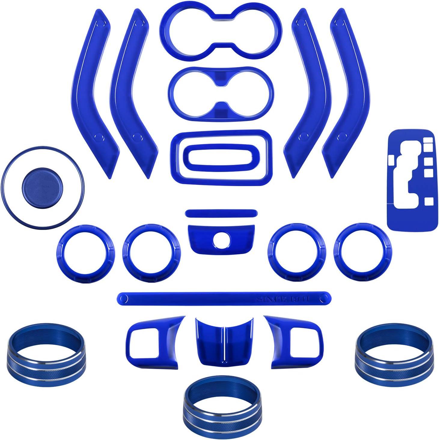 26 PCS Interior Decoration Trim Kit Purple Steering Wheel/&Center Console Cover Door Handle Cover Inner,Gear Frame,Copilot Handle Trim For Jeep Wrangler JK JKU 2011-2018 2/&4-Door Air Outlet Trim