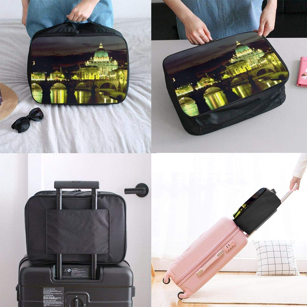 Travel Luggage Duffle Bag Lightweight Portable Handbag St Peters Cathedral Large Capacity Waterproof Foldable Storage Tote