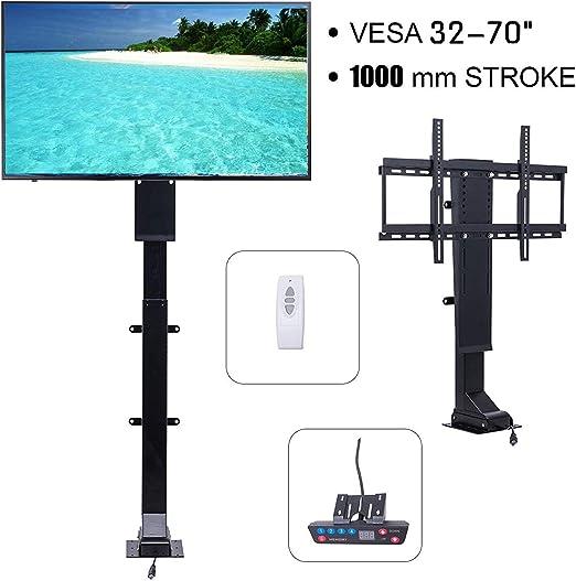 Happybuy - Elevador de TV motorizado (32-70 Pulgadas, 1000 mm ...