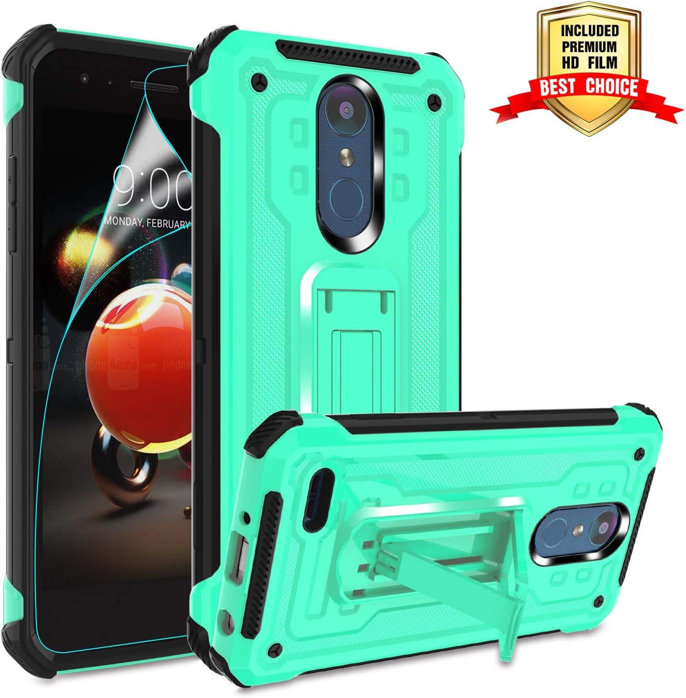 LG Aristo 2 Case,LG Aristo 3/Rebel 4 LTE/Tribute Empire/Dynasty/Fortune 2/Phoenix 4/ Aristo 2 Plus/Zone 4/Risio 3/K8+/LG K8S Phone Case with Kickstand, Atump Military Grade for LG K8 2018 Mint