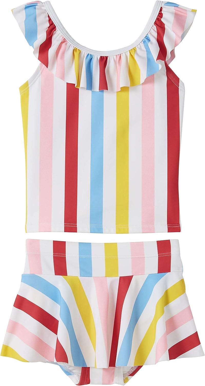Hanna Andersson Girls Rainbow Stripe Tankini//Skirt Set