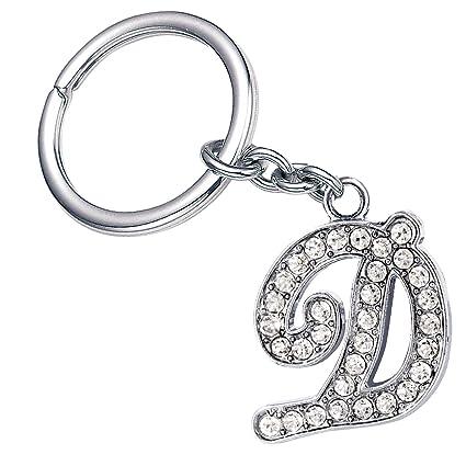 Fashion Bling Bling Letter D Key Ring Creative Packaging Design Box Z-37