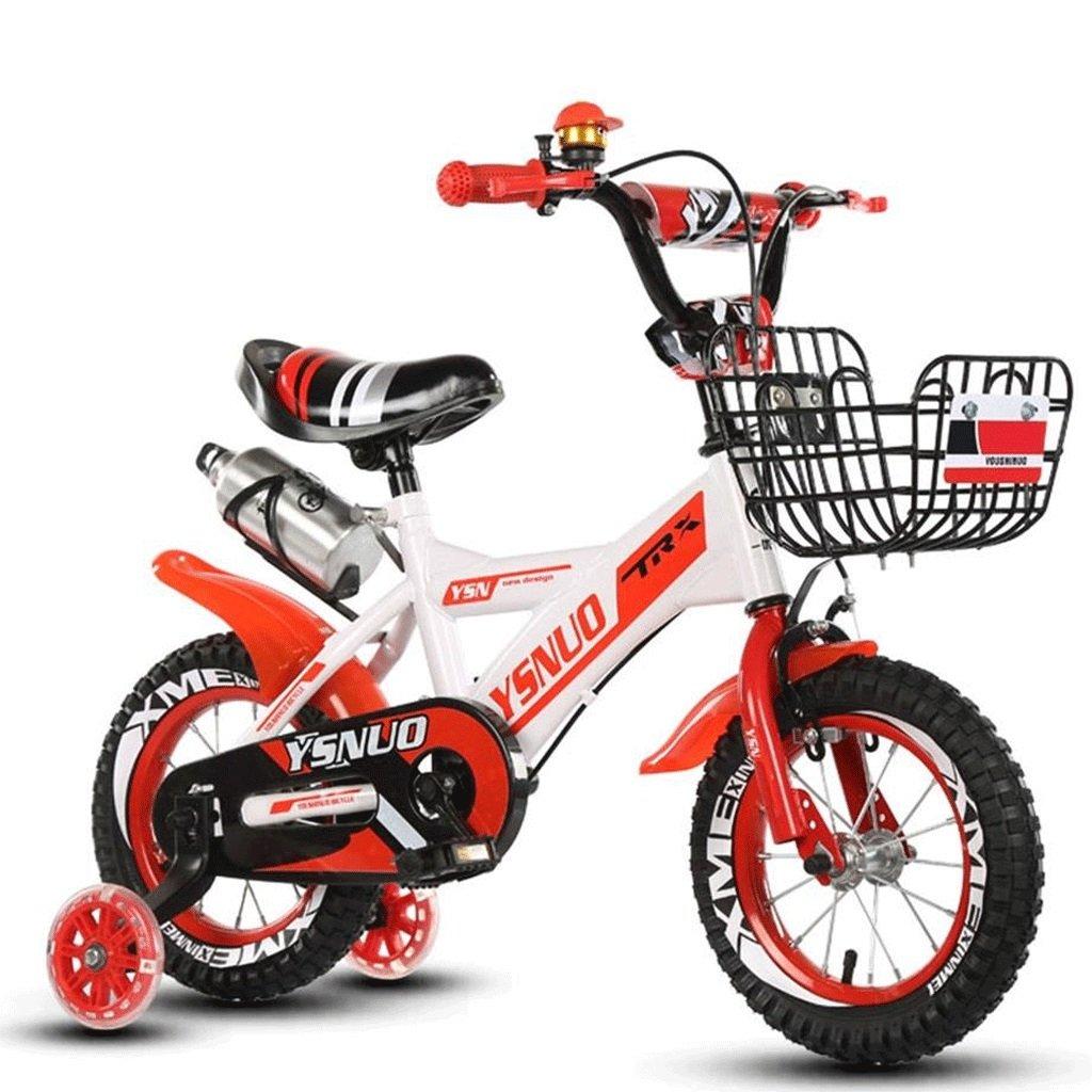 子供の車の折りたたみ自転車2-10歳の男性と女性の赤ちゃんの自転車の子供のプッシュ自転車インフレータブルホイール (色 : 赤, サイズ さいず : 16 inches) B07DBWM3HN 16 inches|赤 赤 16 inches