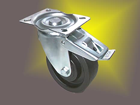 Ruedas con tope y resistente al calor Cilindro de diámetro 100 mm para horno stikken carro