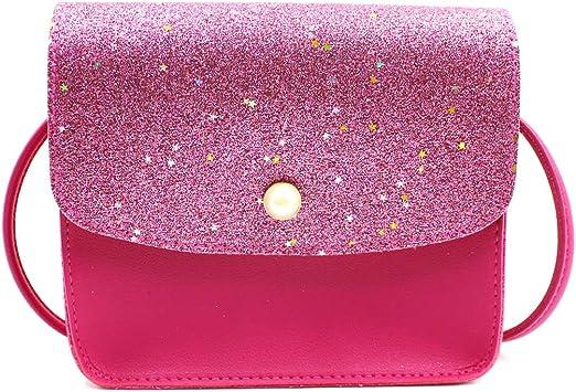 Women Girls Sequins Coin Purse Shoulder Bag Messenger Crossbody Wallet Handbag