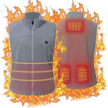 Keymao Unisex Electric USB Charging Heated Vest