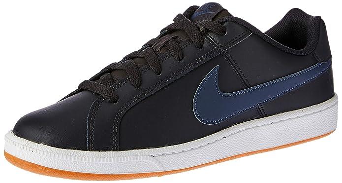 Nike Court Royale Sneakers Herren Dunkelgrau/mit blauen Streifen (Oil Grey/Thunder Blue)