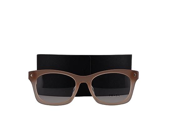 a1cd3e34a61 Amazon.com  Prada PR11SVF Eyeglasses 53-19-140 Crystal Brown ...