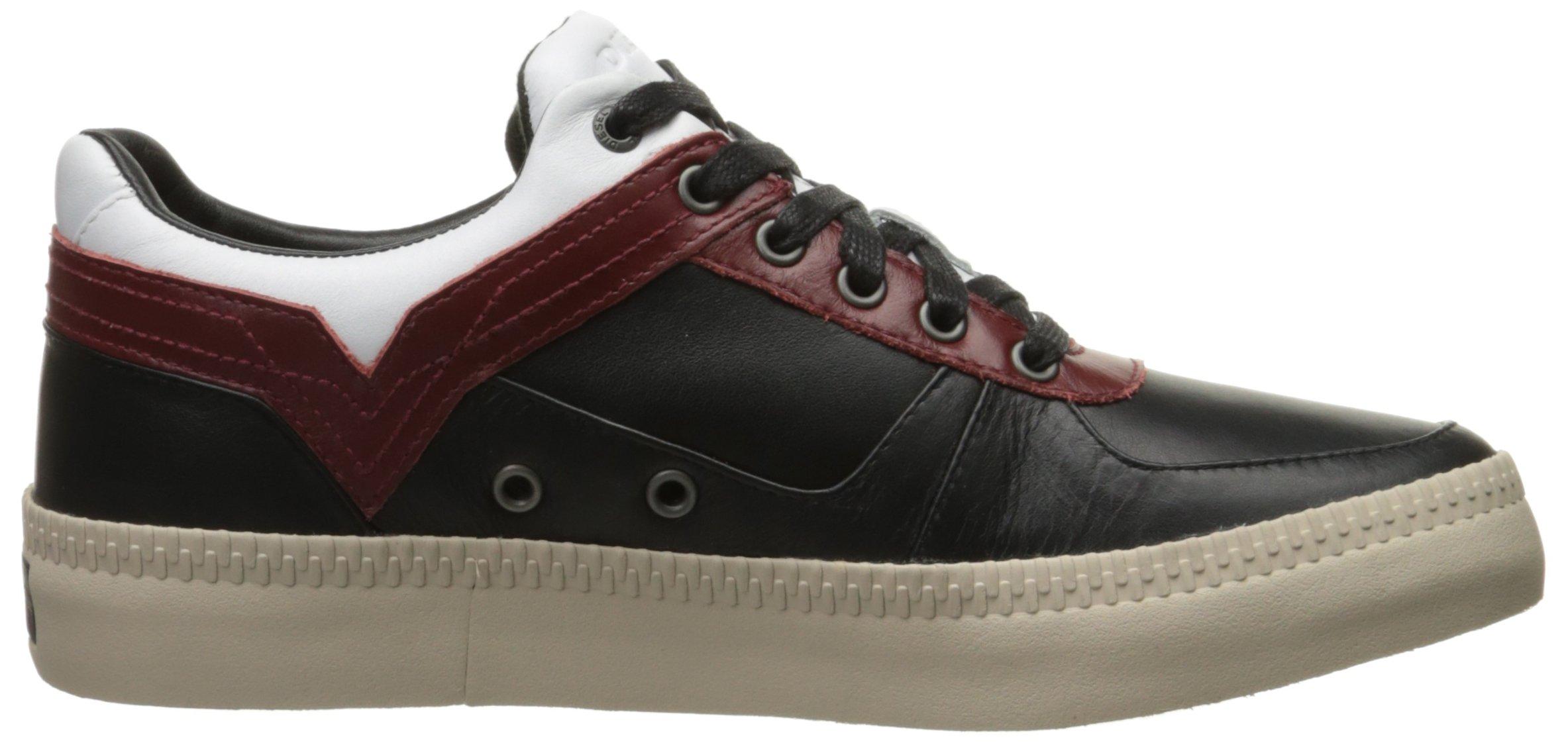 Diesel Men's V S-Spaark Low Fashion Sneaker, Black/White/Biking Red, 10.5 M US by Diesel (Image #7)