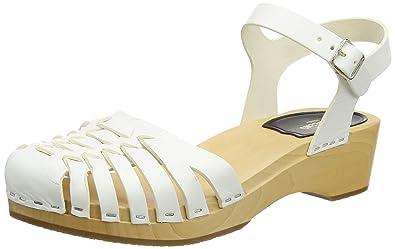 28b610b4e21aa swedish hasbeens Women s Snake Debutant White Shoe